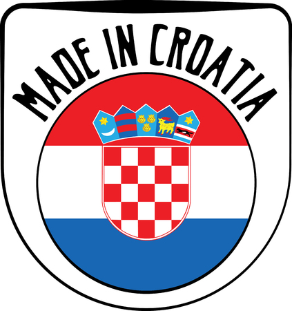made manufacture manufactured: Made in Croatia badge sign. Vector illustration