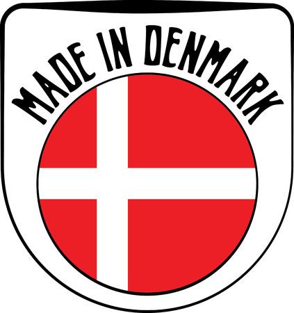 sign in: Made in Denmark badge sign. Vector illustration