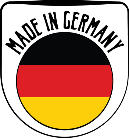 sign in: Made in Germany badge sign. Vector illustration