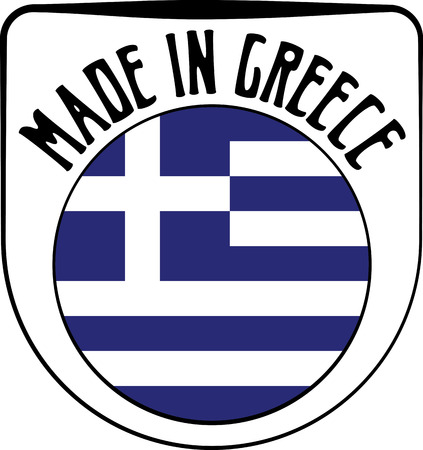 Made in Greece badge sign. Vector illustration