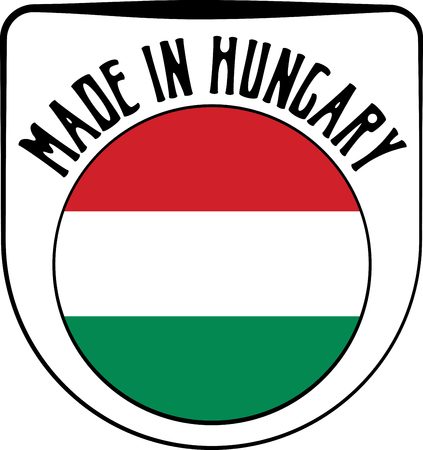 sign in: Made in Hungary badge sign. Vector illustration Illustration