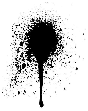 aerosol: Black graffiti aerosol spray paint for your design Illustration