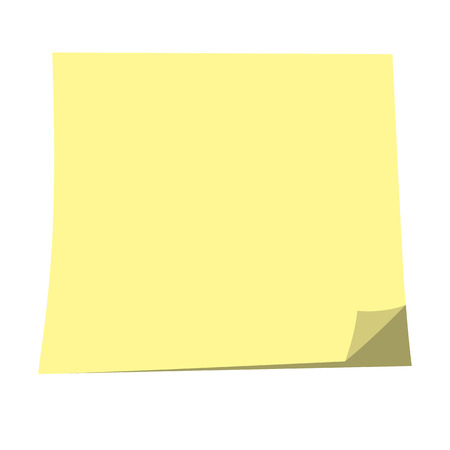 memos: Empty Sticky paper note. Flat design with shadow