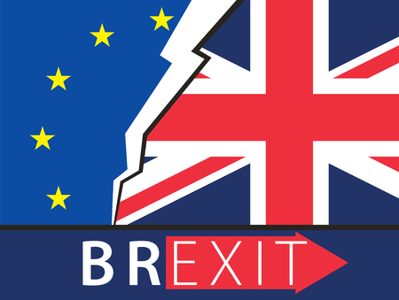 london england: Brexit Great Britain leaving EU vector illustration