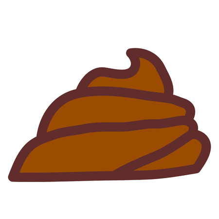 shit: Large pile of fresh shit. Vector illustration