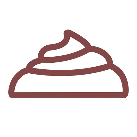 faeces: Large pile of fresh shit. Linear thin line vector illustration