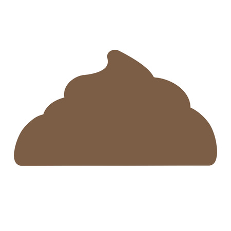 dung: Large pile of fresh shit. Vector illustration