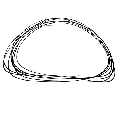 doodled: Hand drawn Circle sketch Doodle Frames. Vector illustration