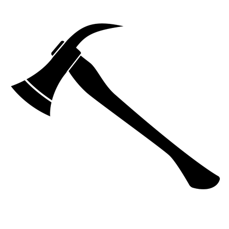Silhouette of Firefighters Axe. vector illustration