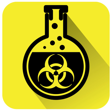 Bio hazard warning sign. Vector illustration Stock Vector - 78488003