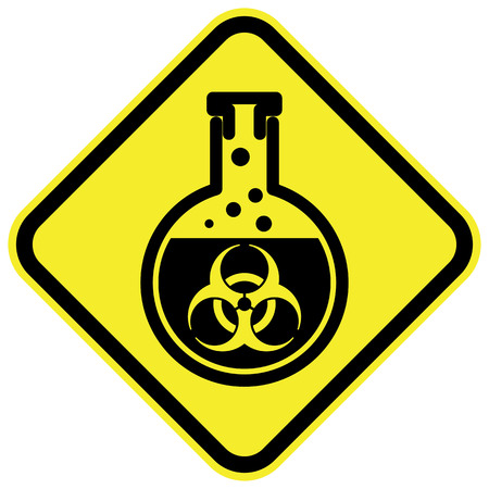 Bio hazard warning sign. Vector illustration