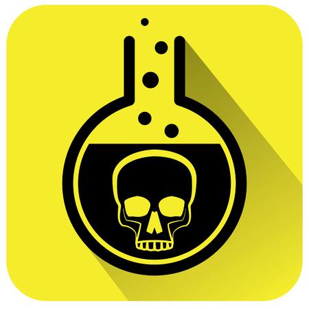 Giftig chemisch waarschuwingsbord Vector illustratie