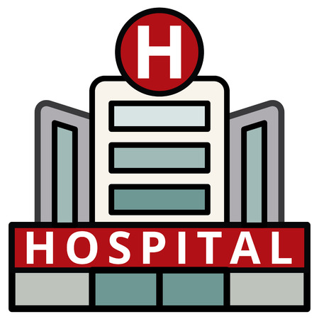 Modern Hospital Building vector illustration. EPS10 Stok Fotoğraf