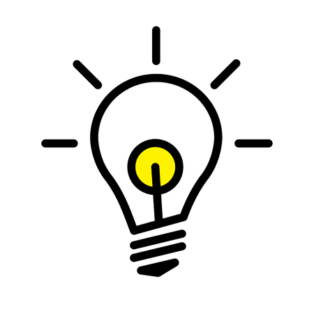 Symbol Of Bright Idea Linear Vector Illustration With Editable