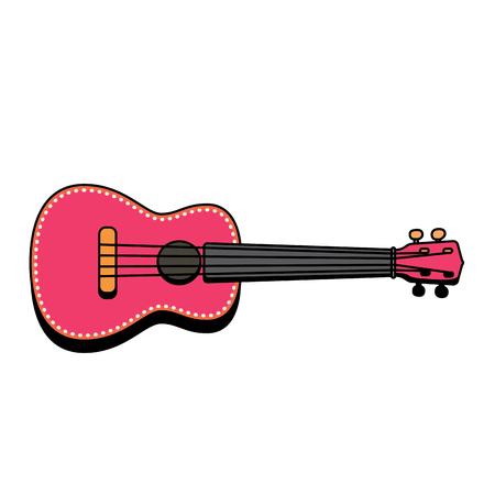 Concert Ukulele - Hawaiian string musical instrument. Vector illustration. Vector Illustration