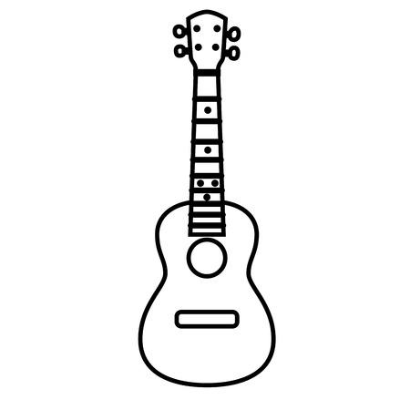 Concert Ukulele - Hawaiian string musical instrument. Vector illustration.