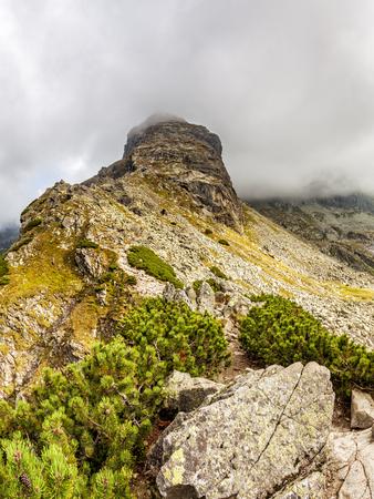View from Krab to Czarny Staw Gasienicowy and Zielona Dolina Gasienicowa valey in Tatra Mountains, Poland, Europe