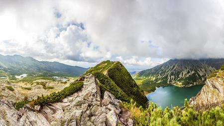 View from Krab to Czarny Staw Gasienicowy in Tatra Mountains, Poland, Europe
