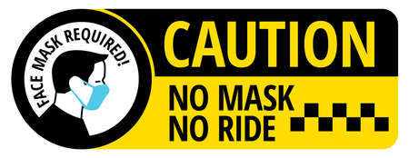No mask no ride sign