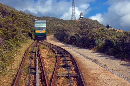 cape of good hope: Railway Flying Dutchman for Cape lighthouse by cape Good Hope, South Africa