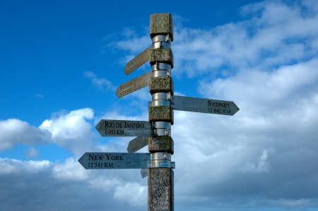 cape of good hope: Signpost on Lighthouse at cape of good hope, South Africa