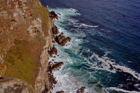 cape of good hope: Cape Good Hope, South Africa, Rocks under the Lighthouse Stock Photo