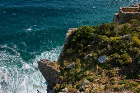 cape of good hope: Cape Good Hope, South Africa, Rocks near to Lighthouse