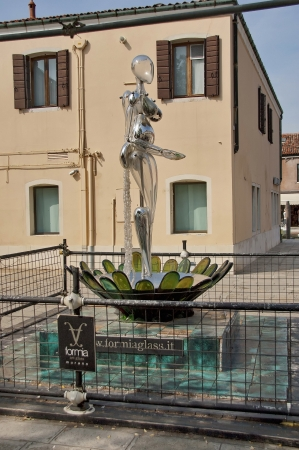 Glass sculpture  Vitae  by Denise Gemin, Murano, Venice,  Venetia, Italy, Europe Stock Photo - 17436019