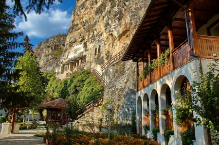 The rock monastery  St Dimitrii of Basarbovo   photo