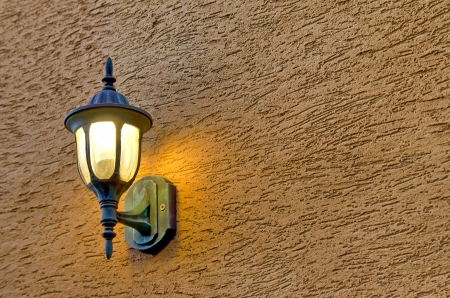 fixture: Decorative lighting fixture of the wall in old style.