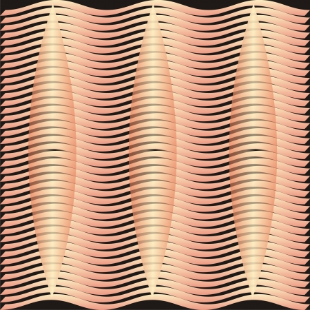 Symmetrical spindle wave vector background pattern