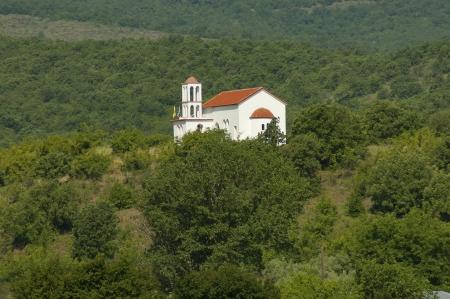 kerkini: Church at monastery in nord Greece near to Kerkini lake Stock Photo