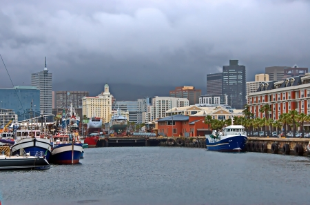 motor launch: Cape Town harbor area - waterfront  South Africa