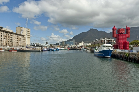 Cape Town harbor area - waterfront  South Africa