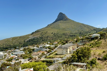 table mountain national park: Lion s head, Atlantic ocean, Cape town, Table Mountain National Park, South Africa