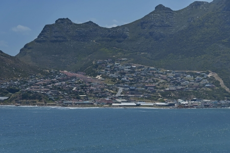 chapman: Chapman s Peak Drive  View to Hout town and Hout bay area  Table Mountain National Park, Cape town