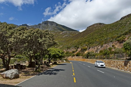chapman: Chapman s Peak Drive  Beautiful road to Cape of Good Hope  Table Mountain National Park, Cape town  Place for   repose