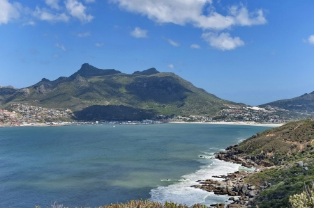 chapman: Chapman s Peak Drive  View to part of beautiful Hout bay coastline  Table Mountain National Park, Cape town  Stock Photo