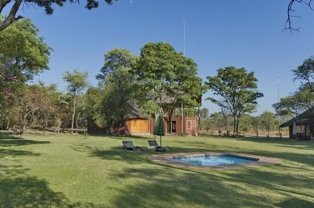rustenburg: Kudus Rus game lodge, November 16, 2011, House with conference hall in Kudus Rus Game Lodge, Kudus Rus Nature Reserve, Rustenburg, South Africa Editorial