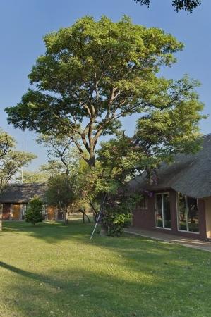 rustenburg: Kudus Rus game lodge, November 14, 2011, Household service house in Kudus Rus game lodge, Kudus Rus Nature Reserve, Rustenburg, South Africa Editorial