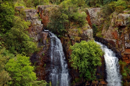 Upper part of Mac Mac waterfal, Blyde river area, Sabie, South Africa photo