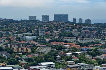 stadium  durban: Above view to Durban city from Moses Mabhida stadium, South Africa