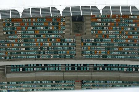 mabhida: Above view to part of interior of Moses Mabhida stadium in Durban, South Africa Editorial