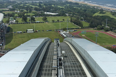 stadium  durban: Skycar appear - Moses Mabhida stadium in Durban, South Africa Editorial