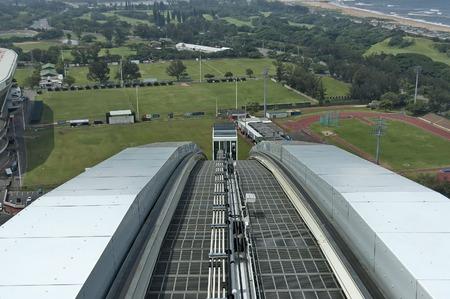 mabhida: Skycar oncoming - Moses Mabhida stadium in Durban, South Africa
