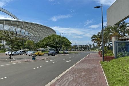 mabhida: Alongside of Moses Mabhida soccer stadium in Durban, South Africa
