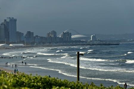 stadium  durban: Seaside beach by uShaka in Durban city, South Africa