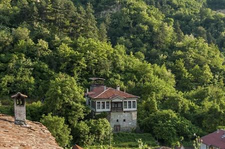 View to ancient Melnik town, Bulgaria Editorial