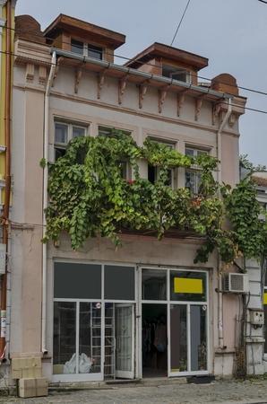 corbel: Interesting old building facade in Ruse town, Bulgaria Stock Photo