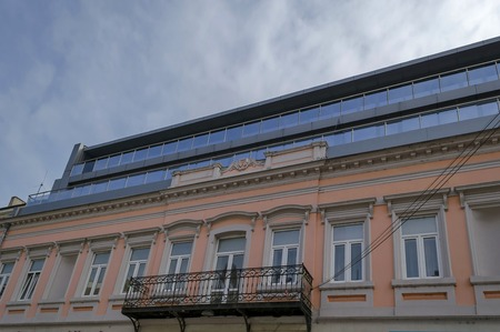 renovated: Old renovated office building with new additional storey in Ruse town, Bulgaria